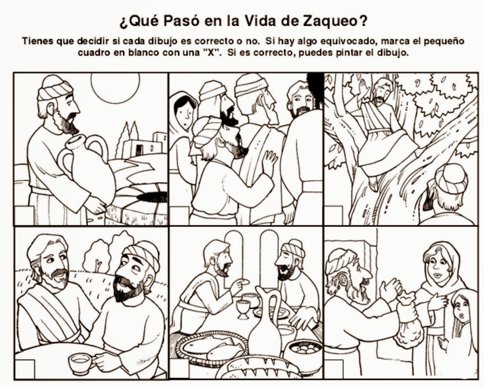 Imagenes Cristianas Para Colorear: Dibujos Para Colorear De Zaqueo ...