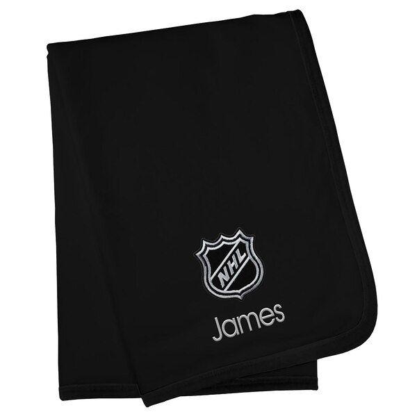 NHL Infant Personalized Blanket - Black