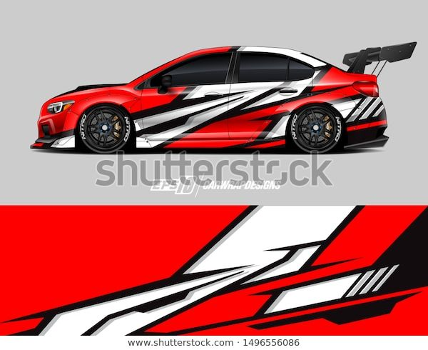 Photo of Car Wrap Graphic Abstract Racing Strip Stock Vector (Royalty Free) 1496556086