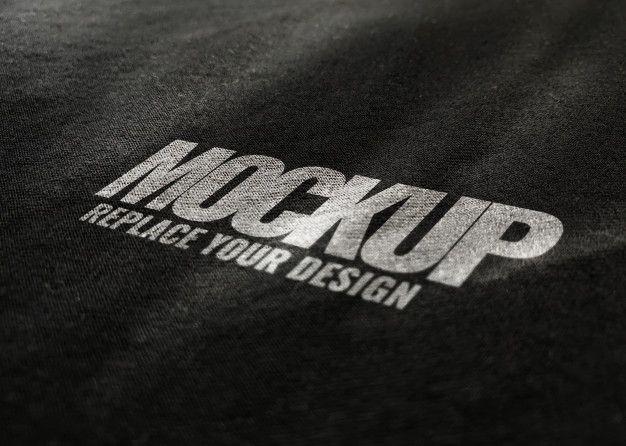 Download Black Fabric Mockup Logo Flyer Design Templates Logo Mockup Retail Logos
