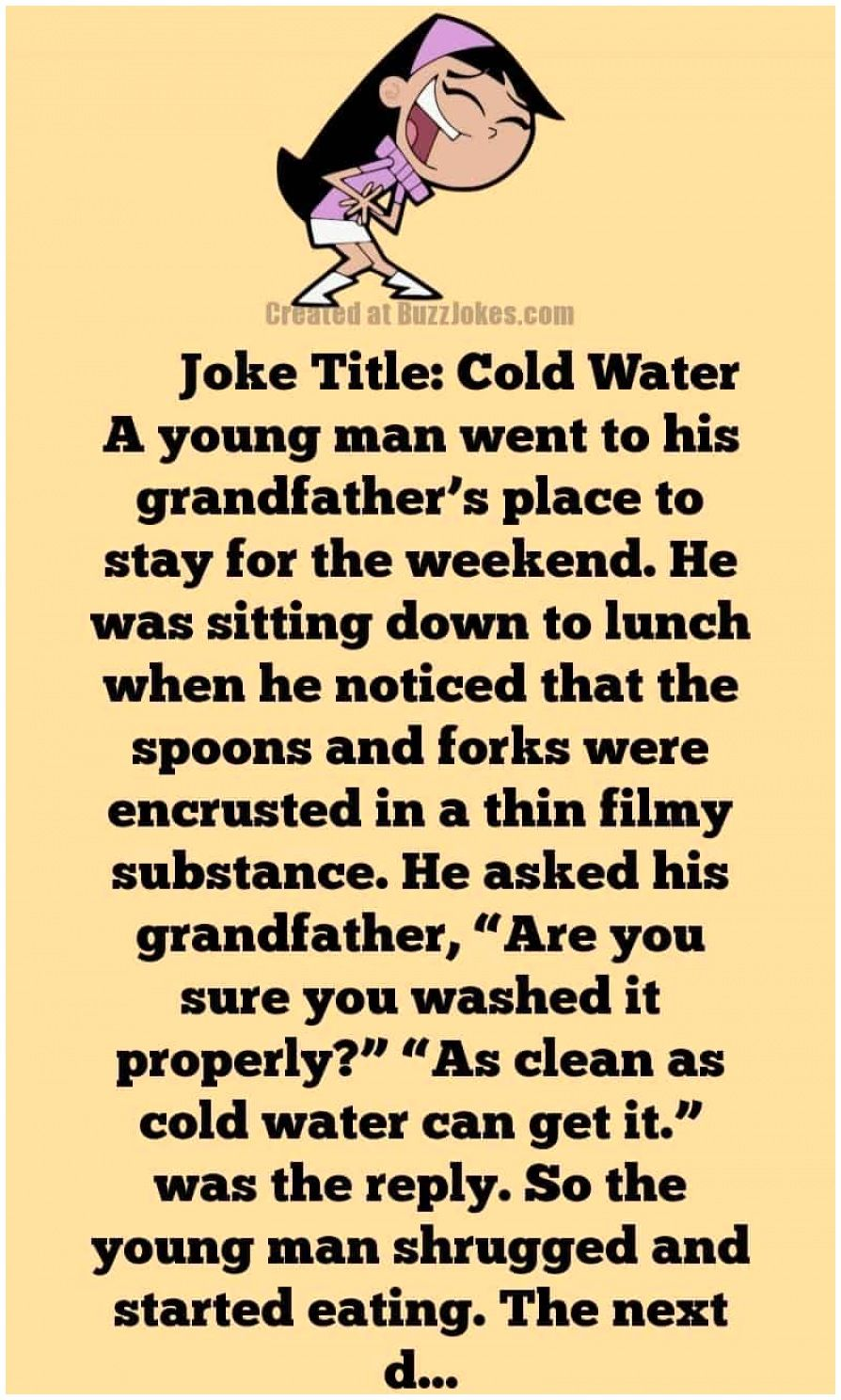 Funny Clean Joke Of The Day Young Man V S Grandfather In 2021 Short Jokes Long Jokes Funny Long Jokes