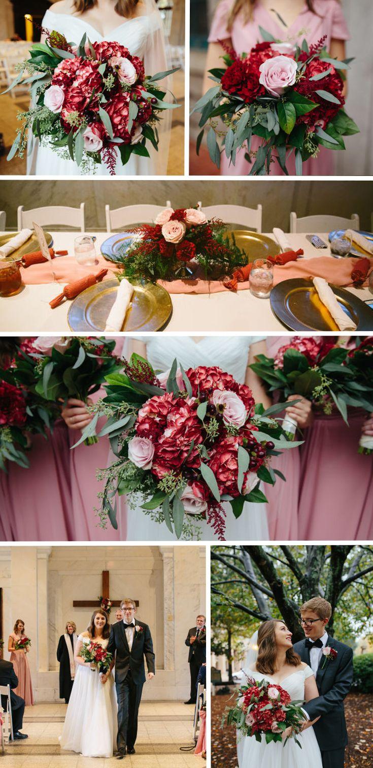 b100ef895e Burgundy and Blush DIY wedding with wholesale fresh flowers - FiftyFlowers .com