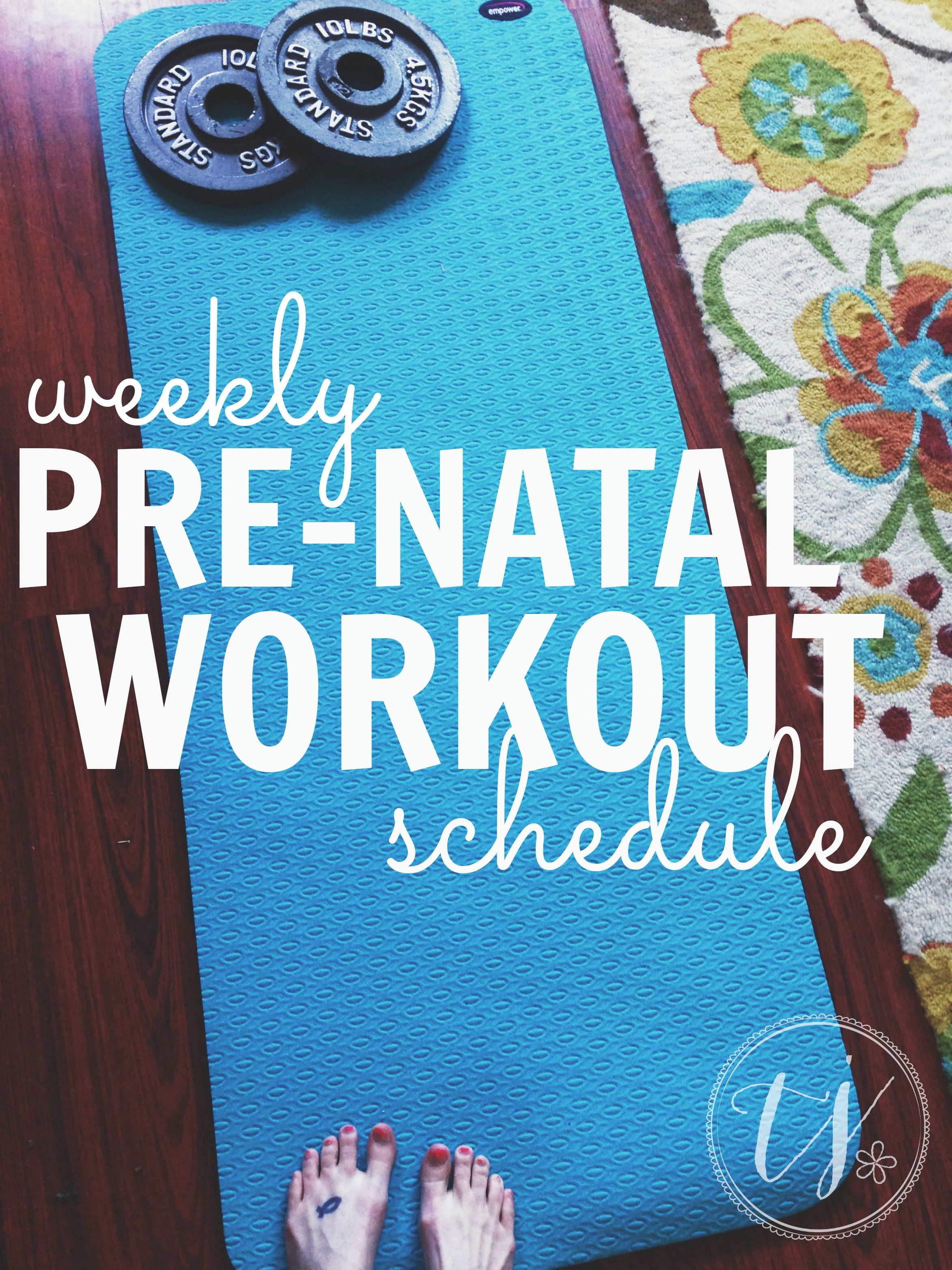 Are you pregnant but not sure how to workout? Here is a great sample weekly pregnancy workout schedule from one mama to another. #pregnancyworkout