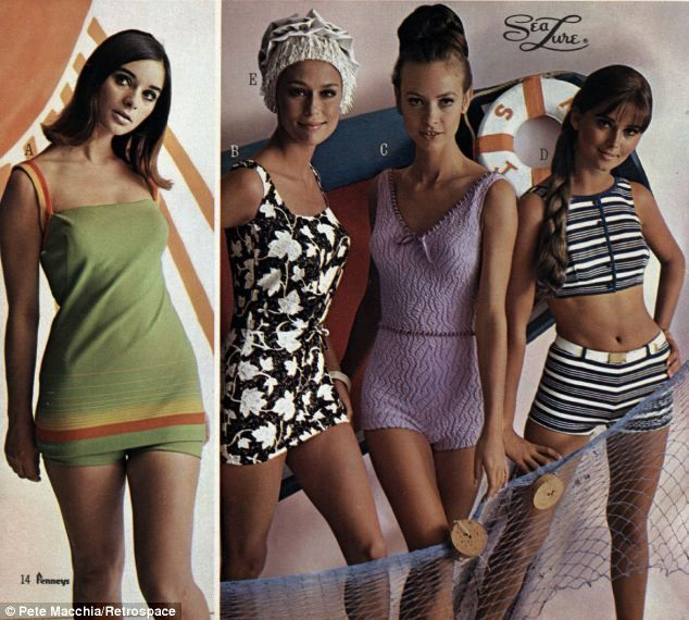 b8c70e148b931 The hottest swimsuit styles of 1967 revealed in vintage JC Penney catalog