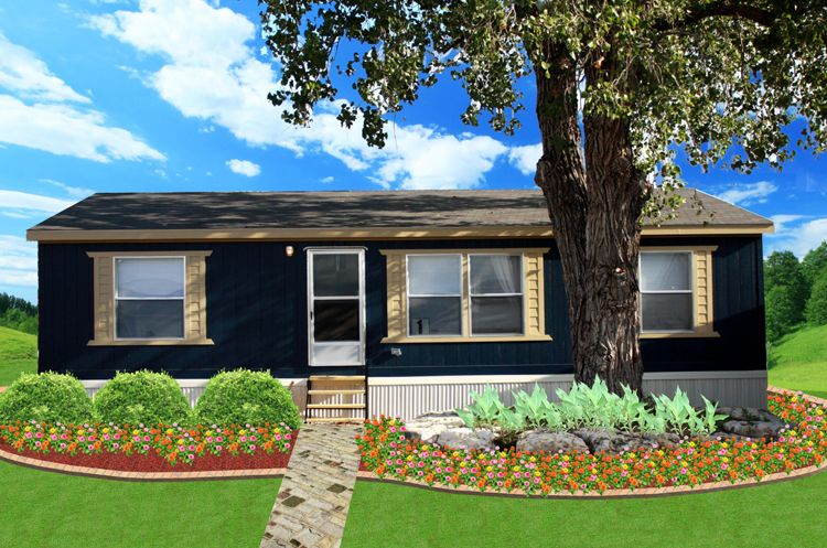 Dark Exterior Color With White Trims Mobile Home Renovation Ideas Pinterest Exterior