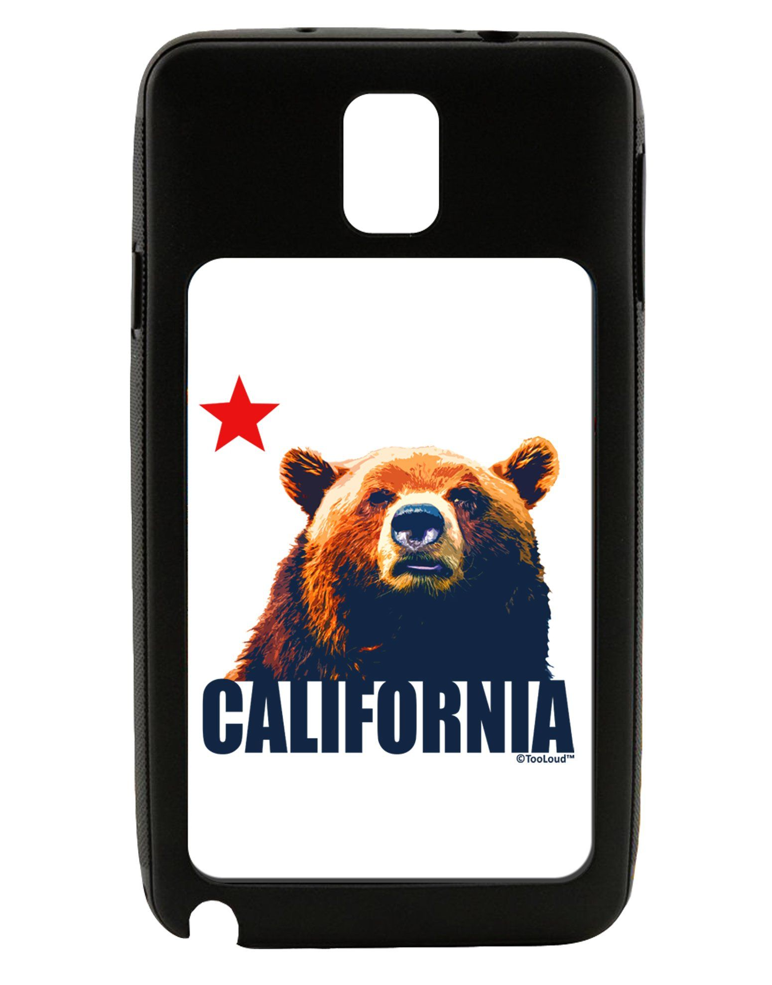 California Republic Design - Grizzly Bear and Star Galaxy Note 3 Case by TooLoud