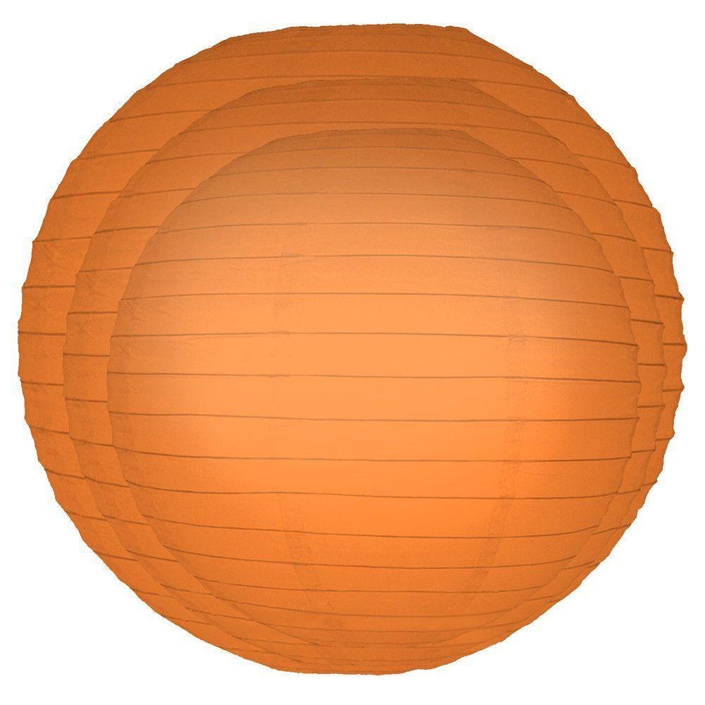6 Piece Round Paper Lantern Set