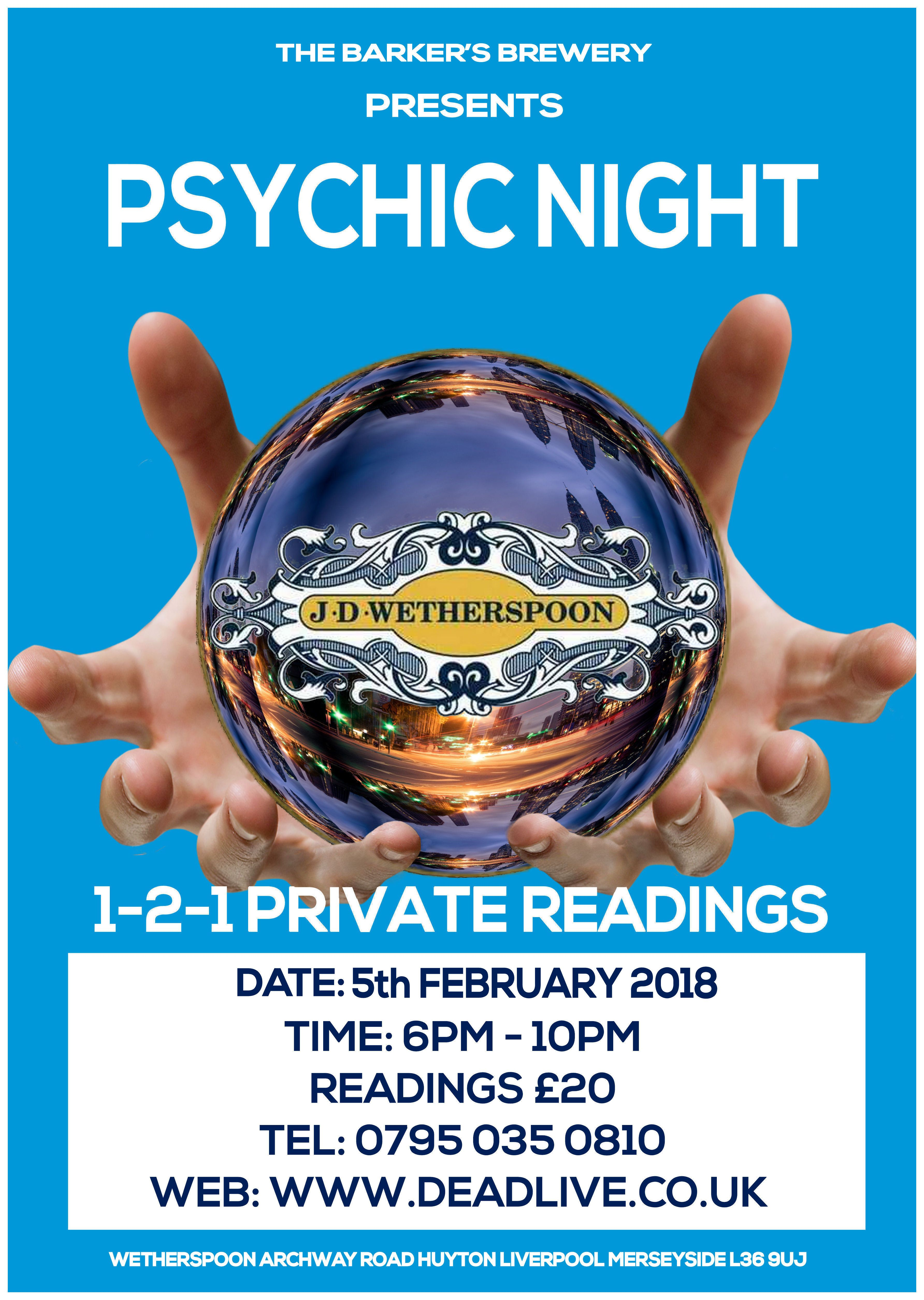 Another Psychic Night Wetherspoon Barkers Brewery Huyton