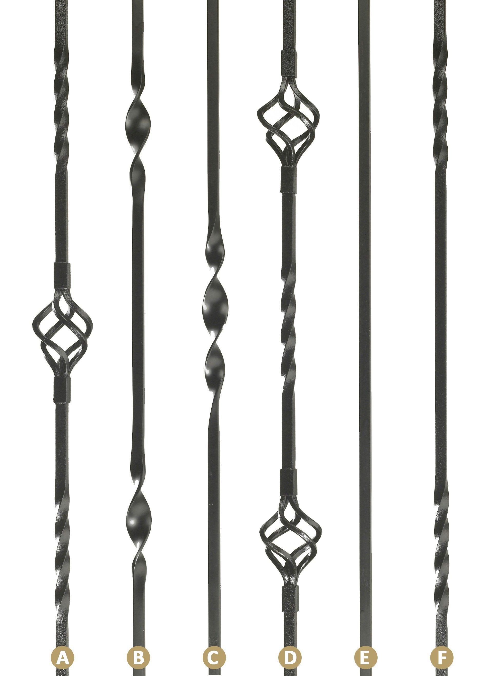 Best Iron Stair Spindles Iron Spindles With Loose Brackets 400 x 300