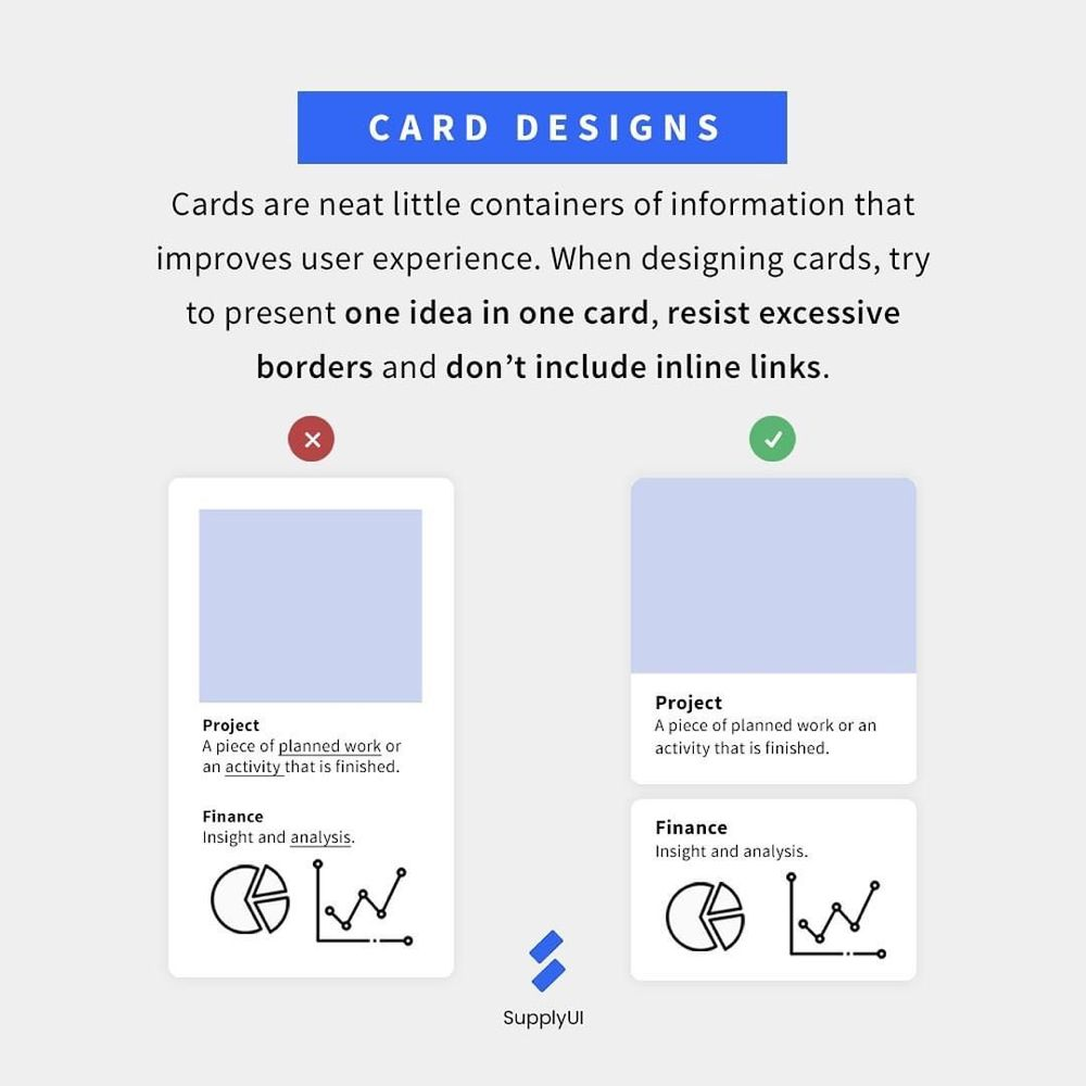 Satisfied User On Instagram Cards Help To Organize Content Into Chunks And Enhance The Scannabilit App Development Design Web Design Tools Web Design Tips