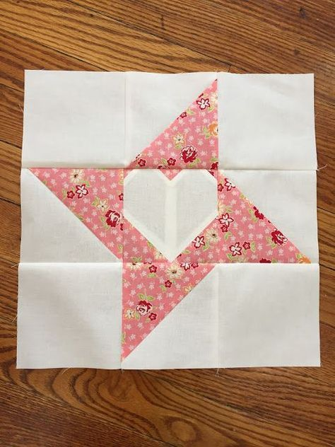Friendship Love A tutorial Heart quilt pattern, Star