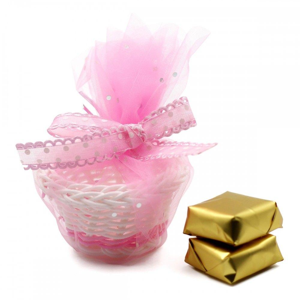 للزواجات والمناسبات السعيده سلة للتوزيعات مزوده ب شريطه ورديه قماش تل فصوص كريستال االلون وردي الطول 6 سم العرض 6 سم الارت Gift Wrapping Gifts Wrap