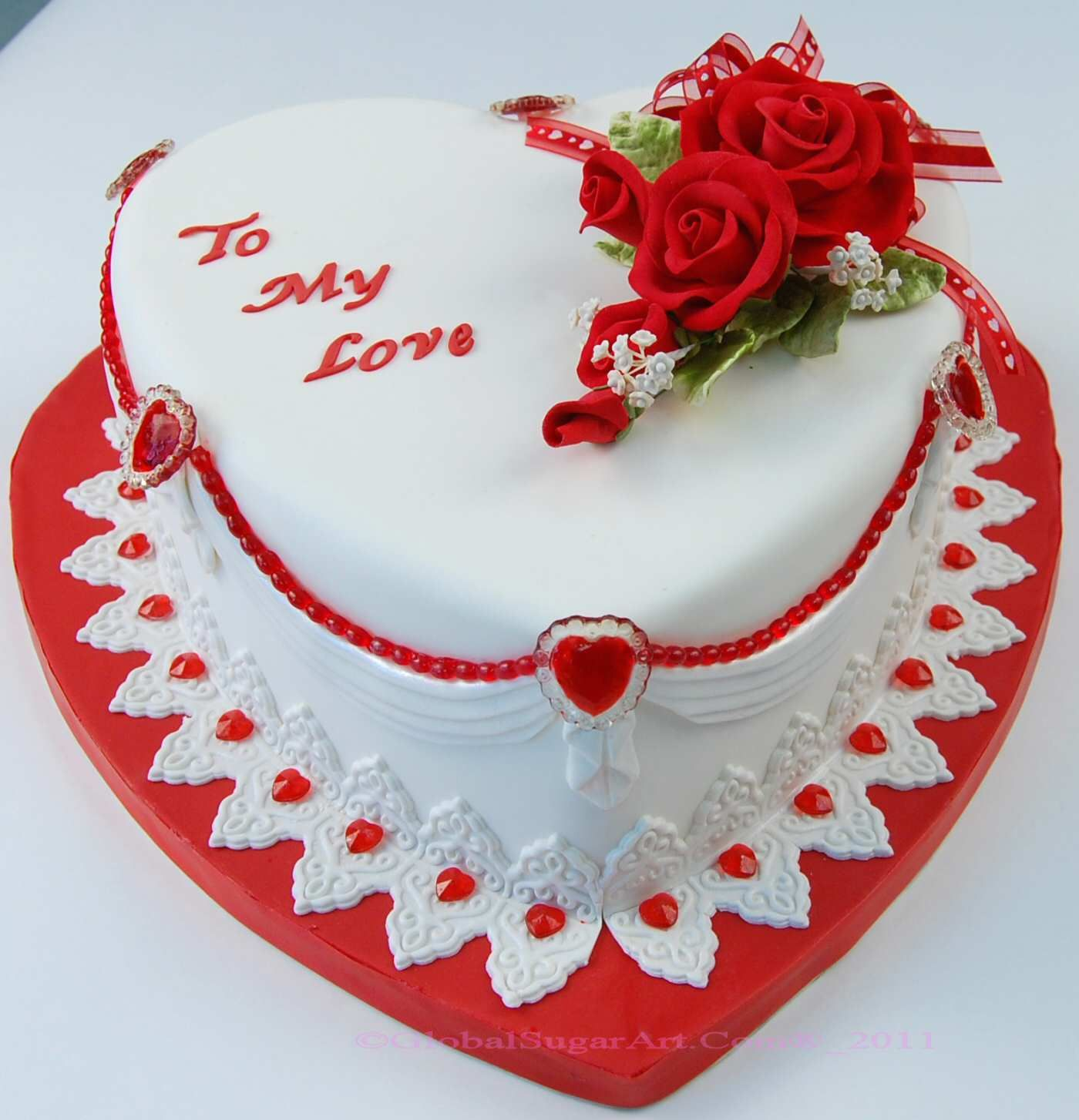 Valentines Cake Decorations Tesco : Decorate a cake like this using marzipan or fondant ...