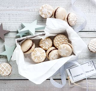 Weihnachts-Macarons