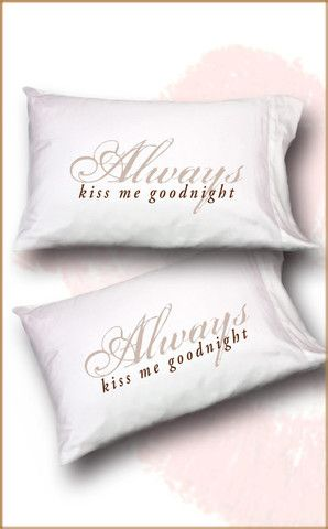 Faceplant Pillowcases Alluring Always Kiss Me Goodnight Standardqueen Pillowcase Set Http Inspiration