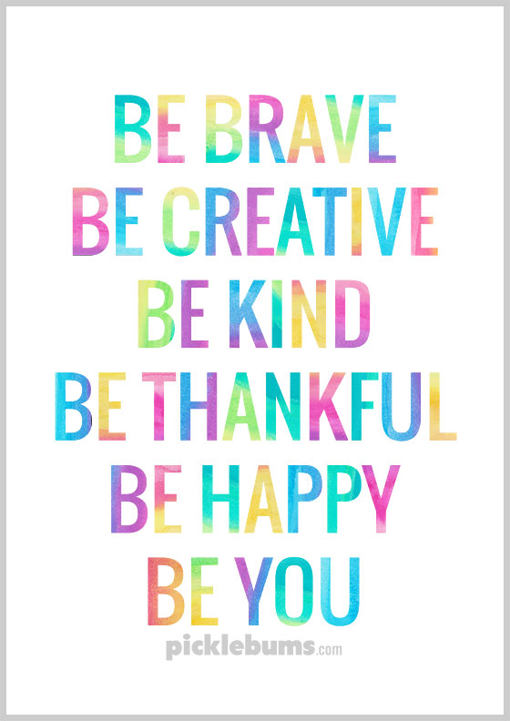 A Little Reminder to Be You - Free Printable Poster