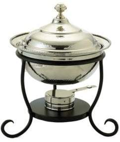 Old Dutch 3 Quart Round Stainless Steel Chafing Dish