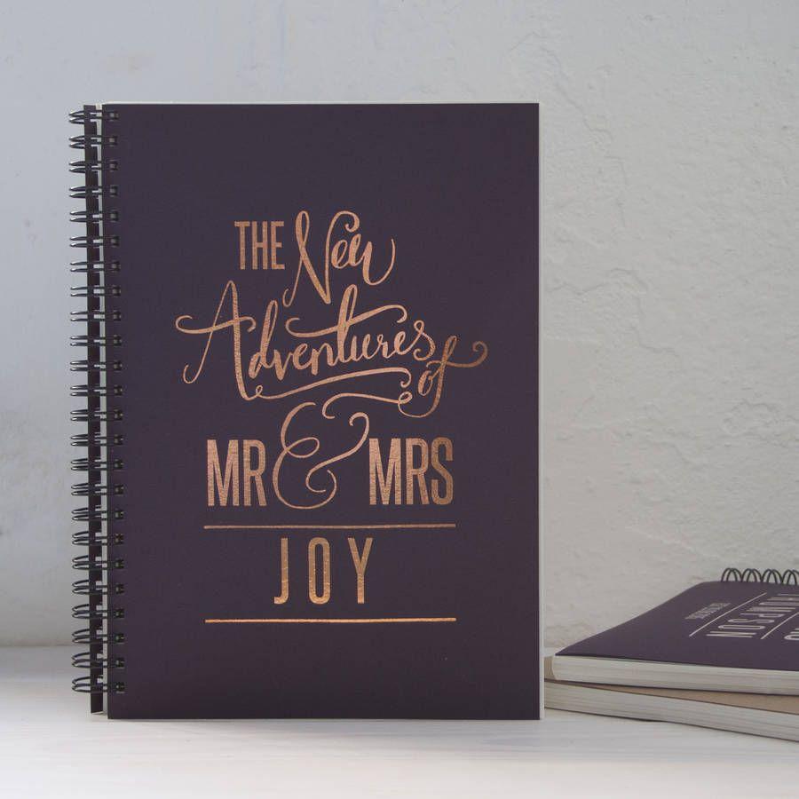 Personalised Wedding Gift Memory Book