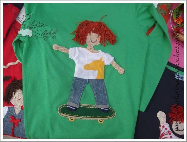 T-Shirt Boy scating