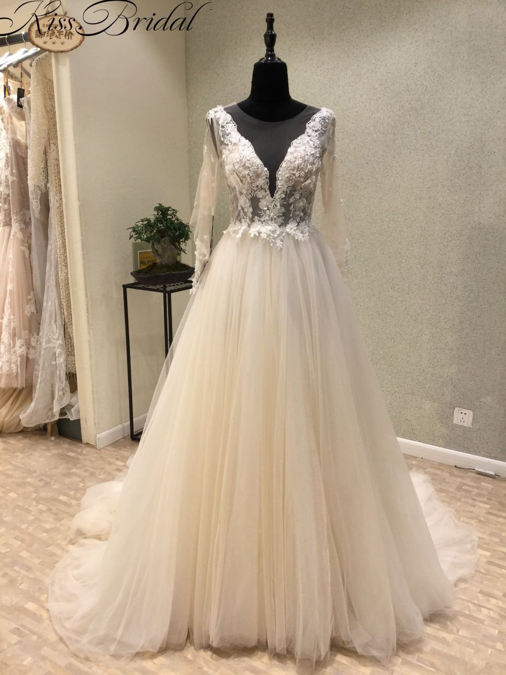 Find more wedding dresses information about modest long sleeve