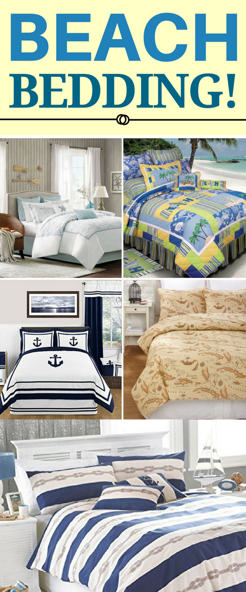 Beautiful BEST BEACH BEDDING! Discover The Absolute Best Beach Themed Bedding Sets.  We Have Beach And Coastal Bedding Including Comforters, Duvet Covers,  Quilts, ...