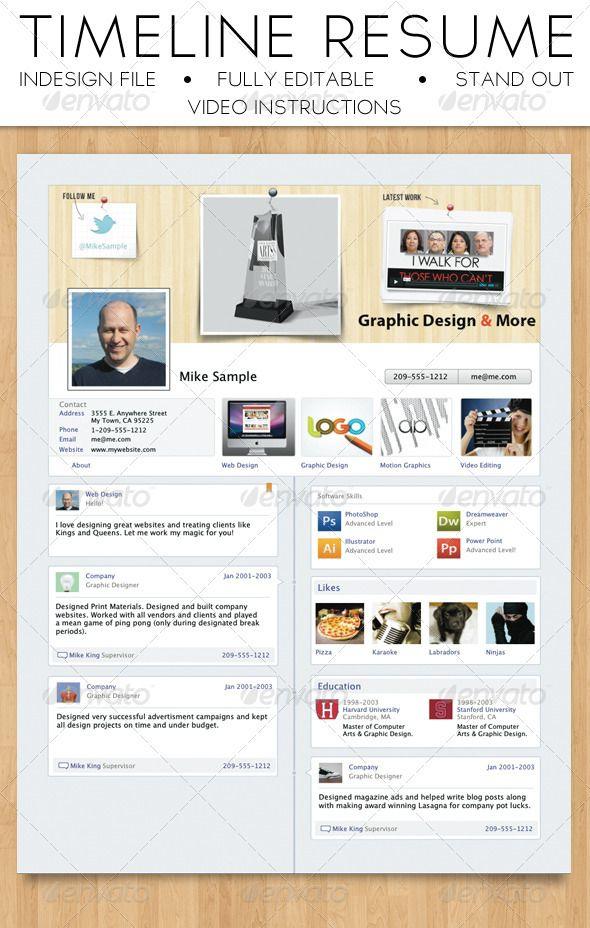 Facebook Timeline Resume Facebook Timeline Online Resume And - Timeline resume template