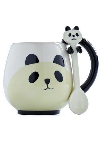 Panda mug and spoon from ModCloth