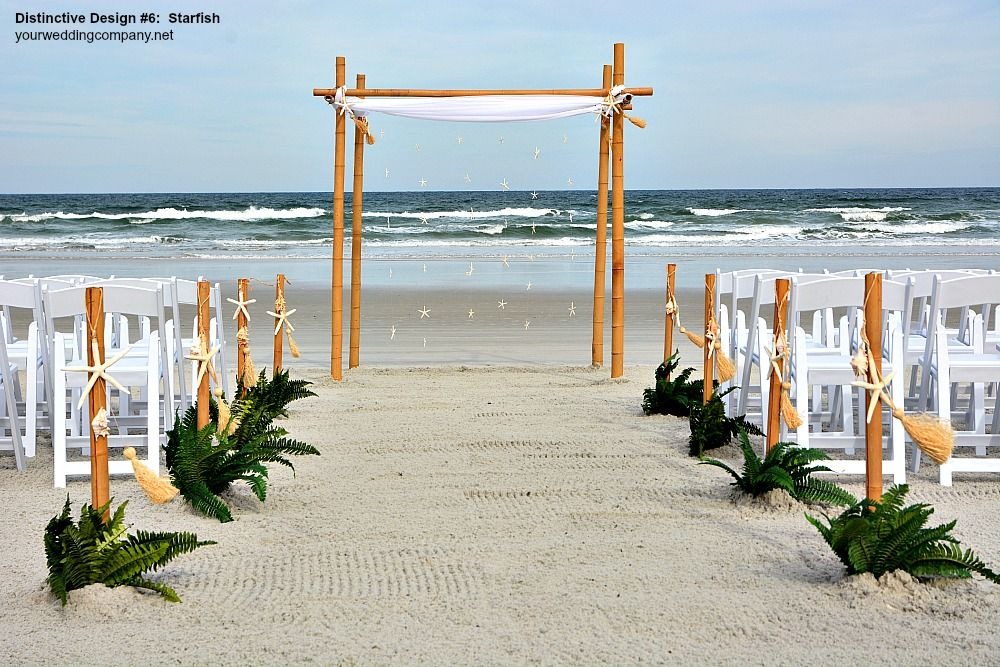 Starfish Arch Wedding Toppers