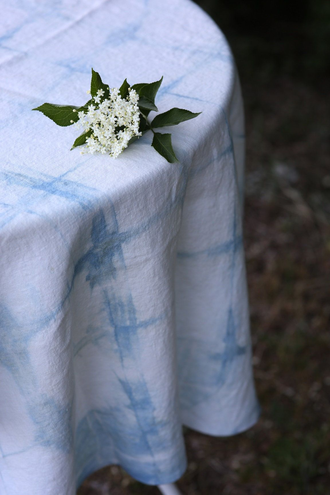 Linen Tablecloth, Organic Table Cloth, Linen Table Cloth, Blue Tablecloth,