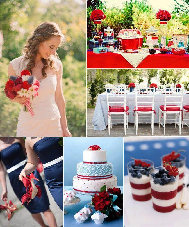 4th Of July Themed Weddings Wedding 4july 4julywedding Weddingideas Weddingplanning