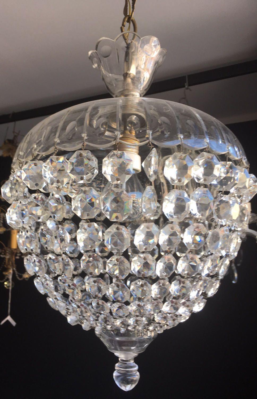 Murano crystal chandelier vintage murano pendant light shabby chic murano crystal chandelier vintage murano pendant light shabby chic wiring compatible with usa aloadofball Gallery