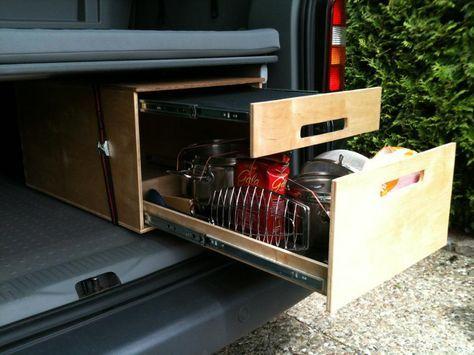 Vw Bus Innenausbau Bauanleitungen Doppelbett Im Vw Caddy