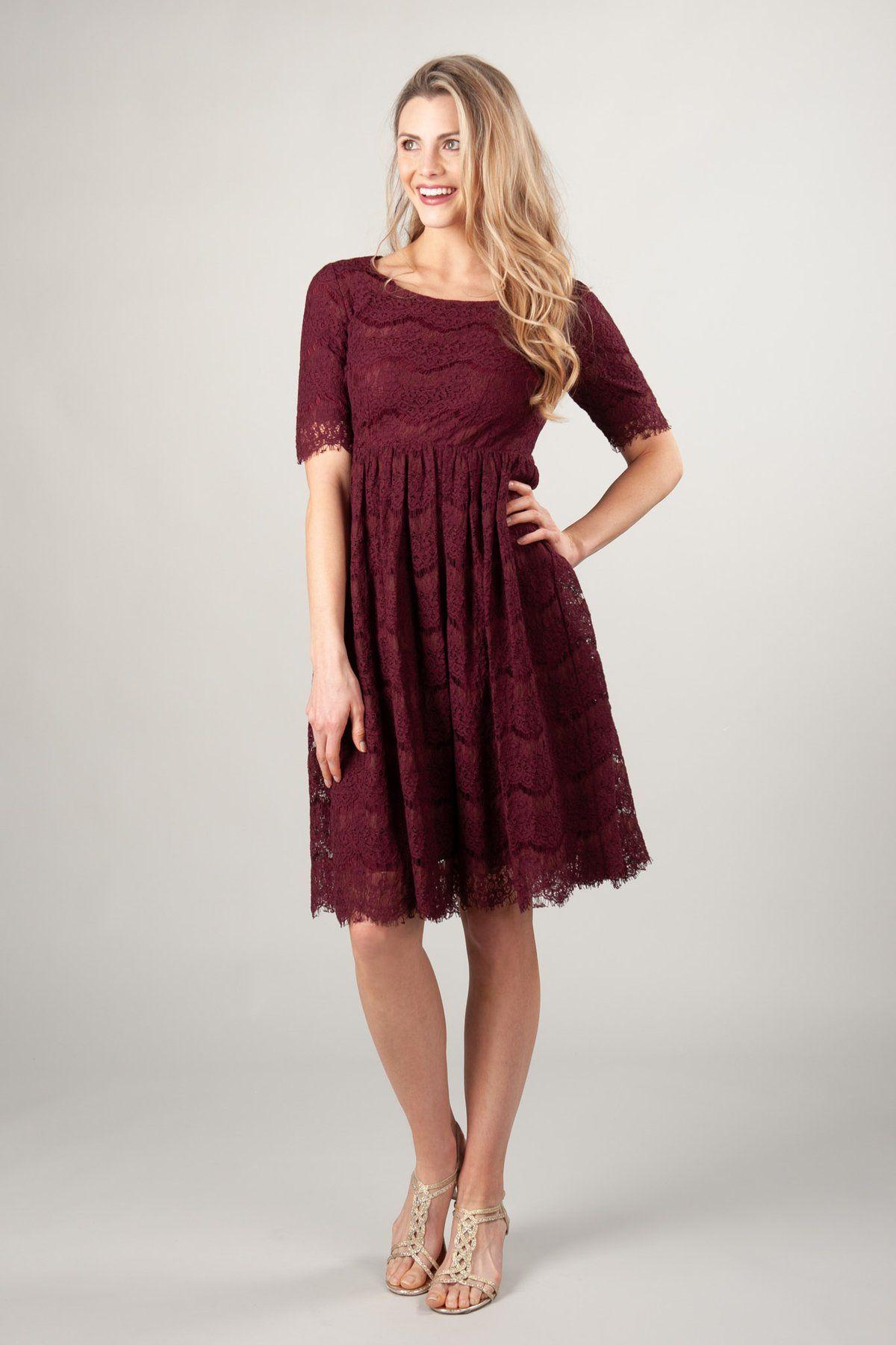 d0332e873f Modest Dresses   MDS19120 Burgundy – LatterDayBride