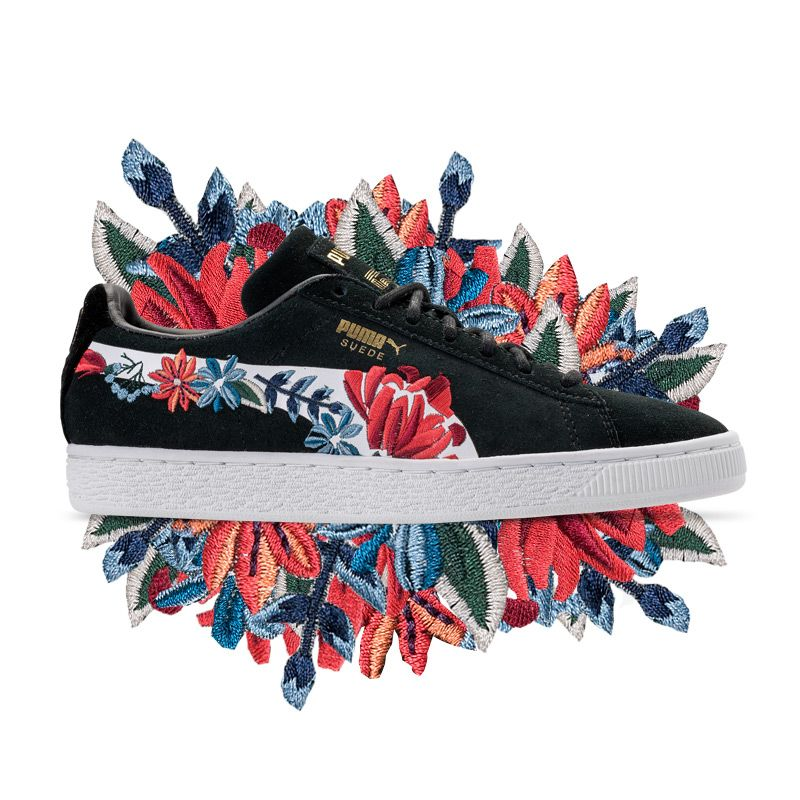 Documento Por Saga  Go Fun and Floral With The Puma Suede Classic Embroidered | Tenis ...