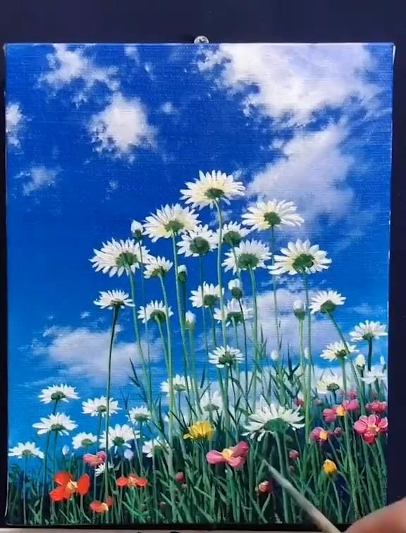 Beautiful Acrylic Painting of Flowers