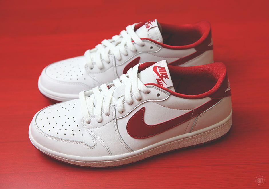 air jordan 1 low white red