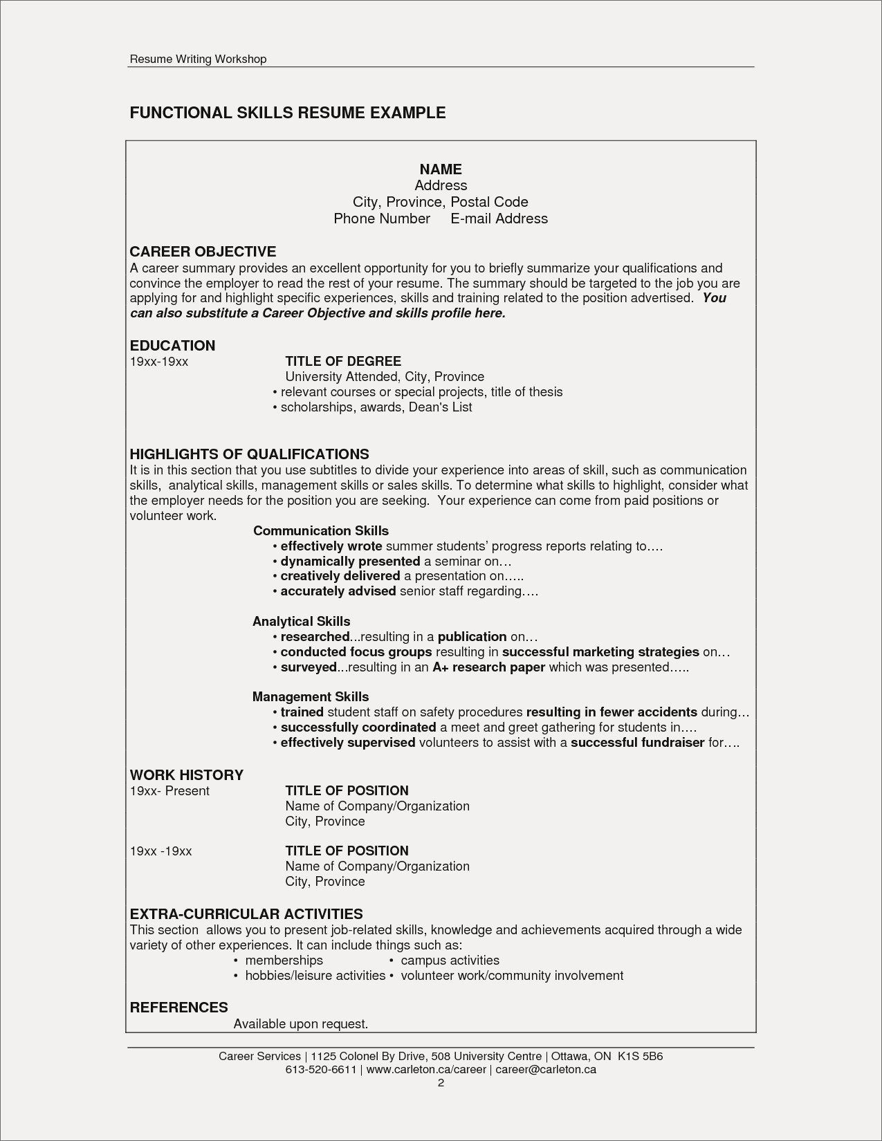 Extra Curricular Activities for Resume Elegant Resume Co