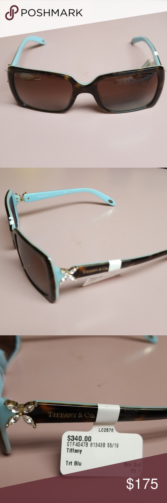 514f44b56a17 Tiffany   co ladies sunglasses tortoise shell frames. embellished on sides.  brand new Tiffany   Co. Accessories Sunglasses