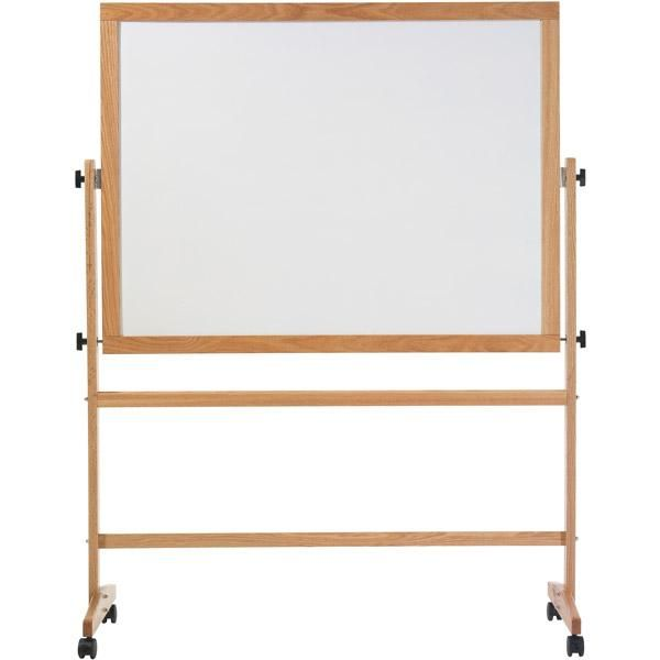 Remarkaboard Mobile Reversible Whiteboard - Wood Frame - 3\'H x 4\'W ...