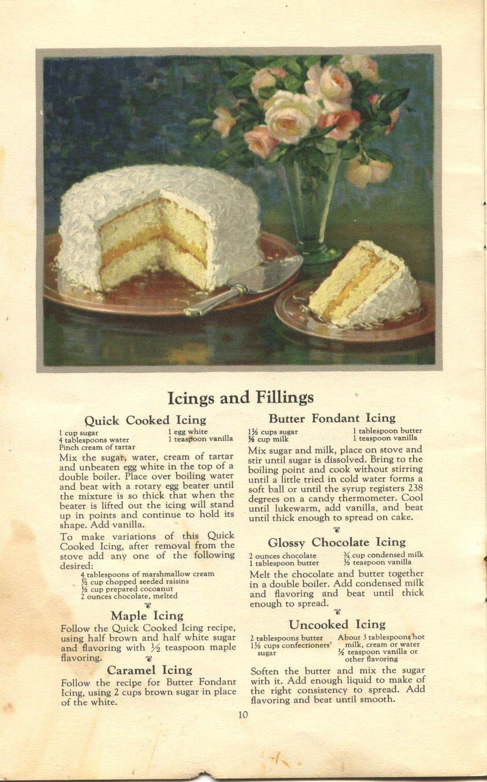 Things Your Grandmother Knew Six Vintage Icing Cake Filling Recipes Filling Recipes Cake Filling Recipes Vintage Recipes