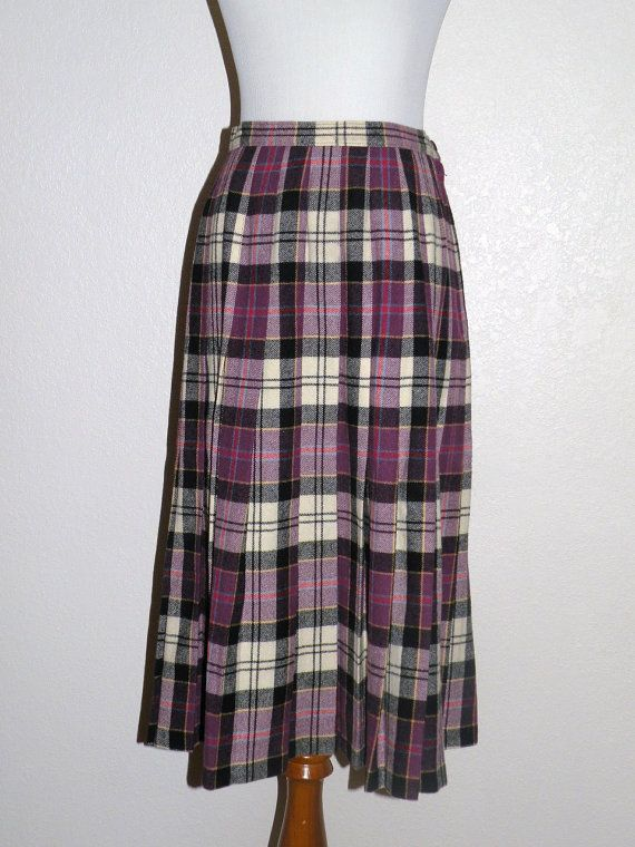 CULLODEN Tartan Plaid Pendleton Wool Skirt by FashionMuseVintage, $28.00