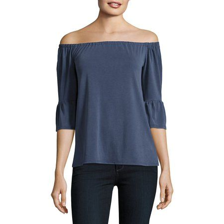f8556888eff Off-the-Shoulder Top Walmart Outfits