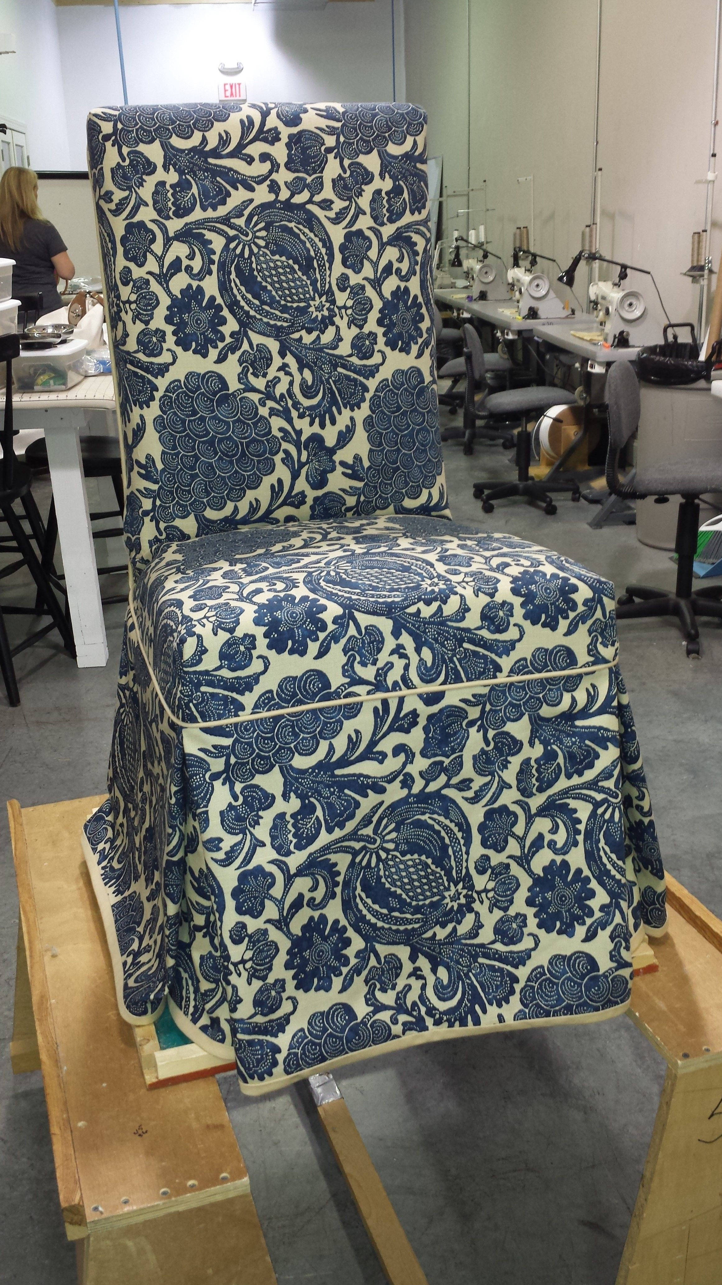 Parsons Chair Cover Pattern French Countryside Dining Chairs Custom Slipcover Chf Academy Pinterest
