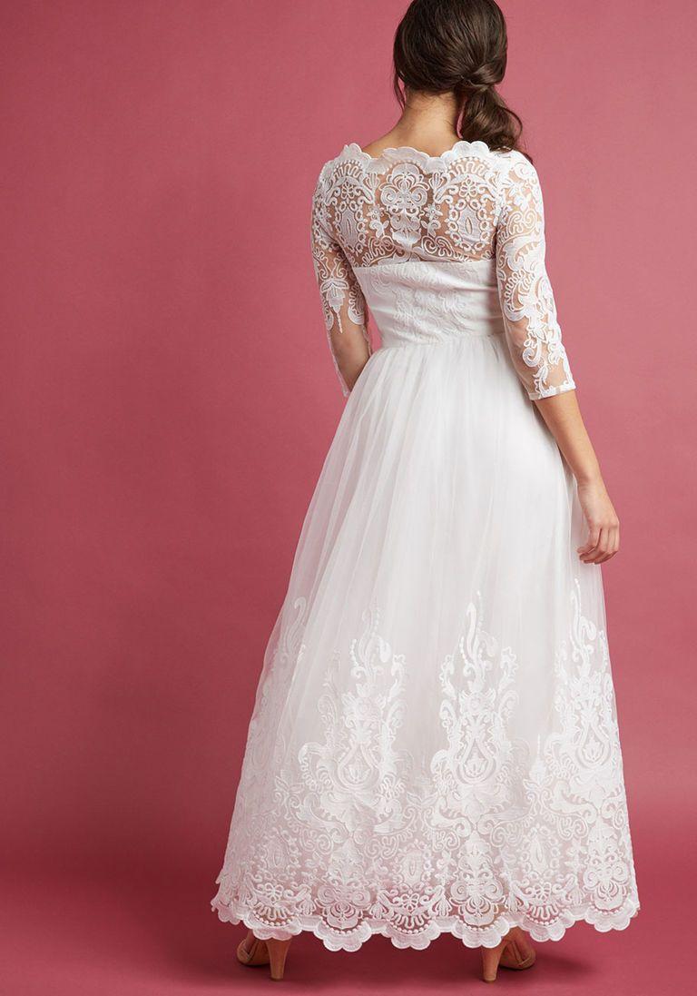 1fc3201e089 Chi Chi London Sophisticated Ceremony Maxi Dress in White