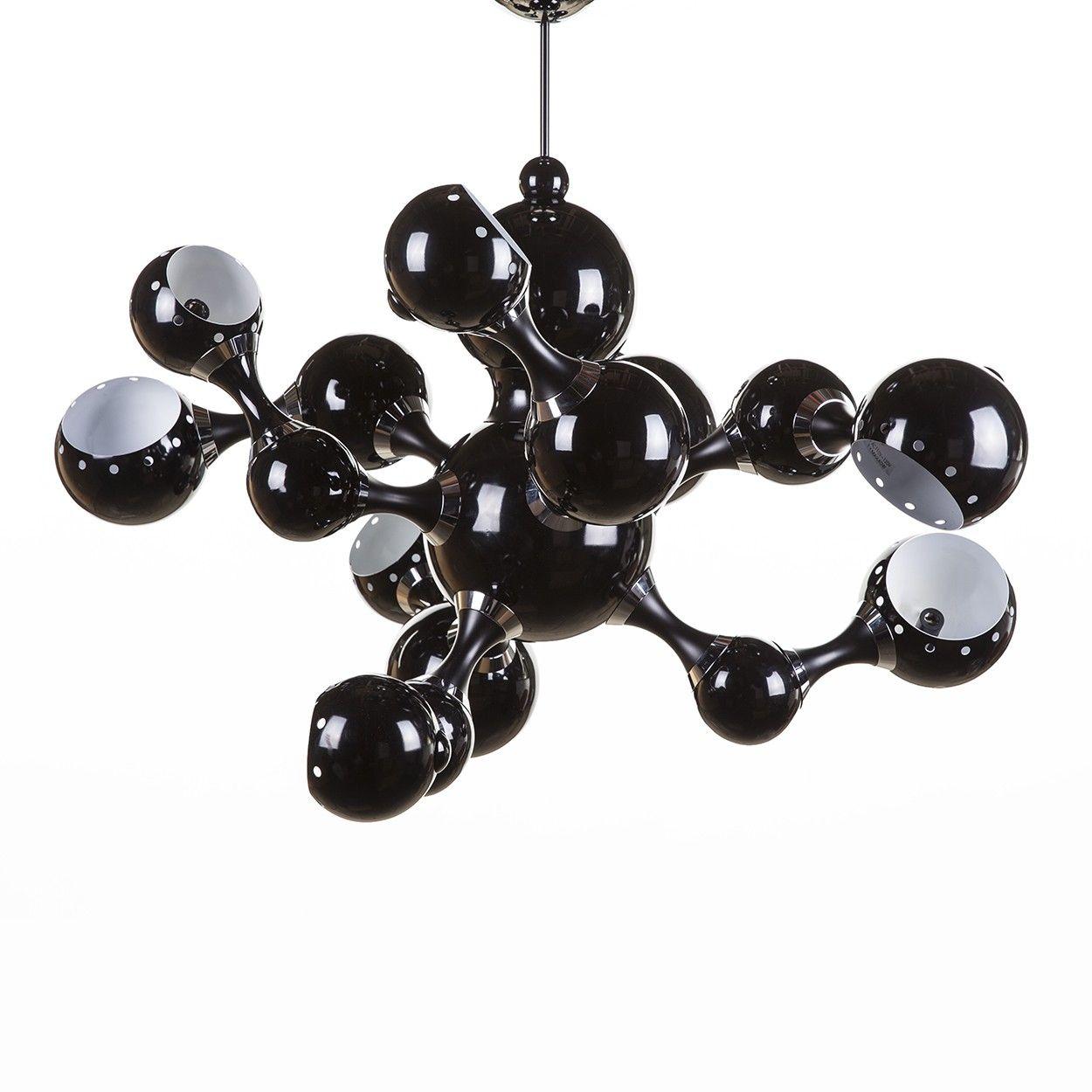 Atomic suspension chandelier black chandeliers lights fantastic atomic suspension chandelier black arubaitofo Image collections