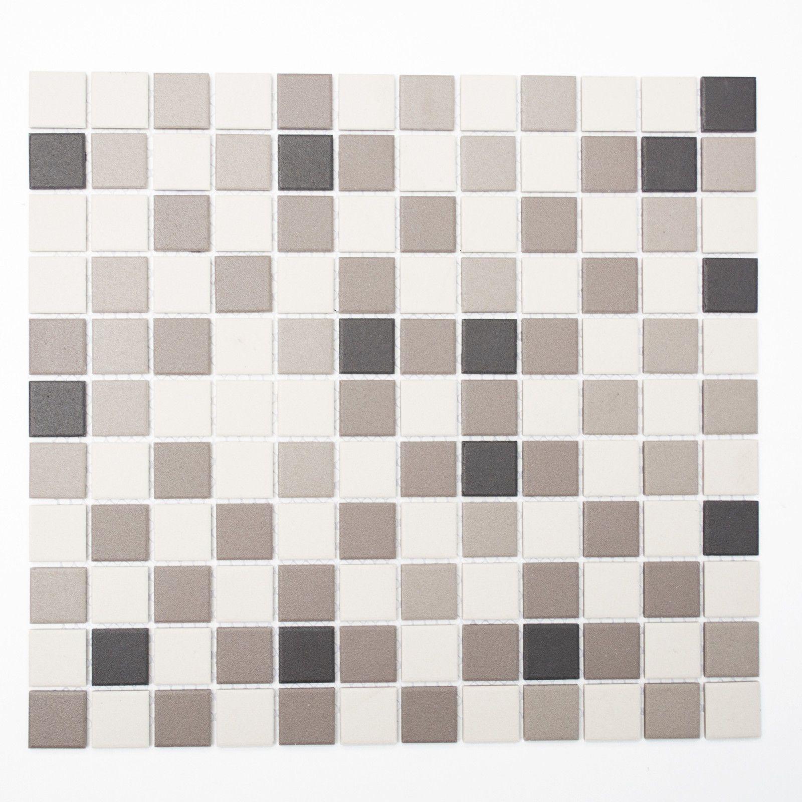 Details Zu Fliesen Mosaikfliesen Keramik Boden Bad Küche WC Mm Weiß - Mosaik fliesen draußen