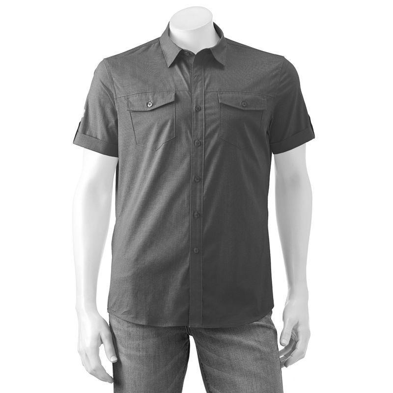 Men's Apt. 9® Premier Flex Slim-Fit Stretch Poplin Button-Down Shirt, Size:
