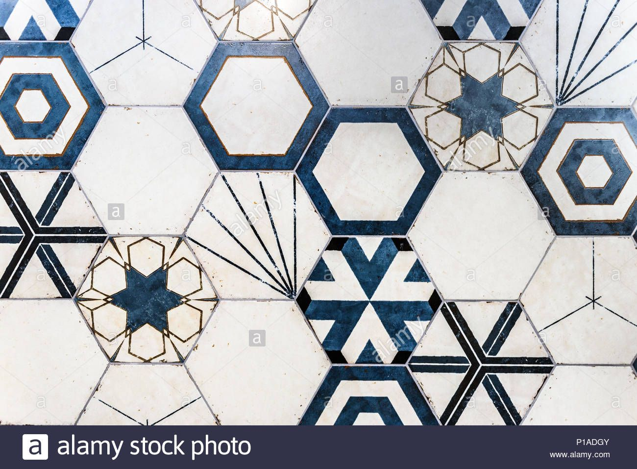 Download This Stock Image Hexagonal Colorful Modern Bathroom Toilette Or Kitchen Ceramic Tiles Wall Artistic Blue A Modern Bathroom Ceramic Tiles Wall Tiles