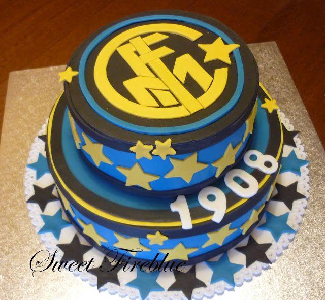 Sweet fireblue torta inter a due piani mari echipe for Torte di compleanno a due piani semplici