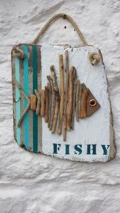 Fisch auf Holz ... - Karageyik   - Dekoration -